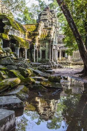 reflections at ta prohm temple rajavihara