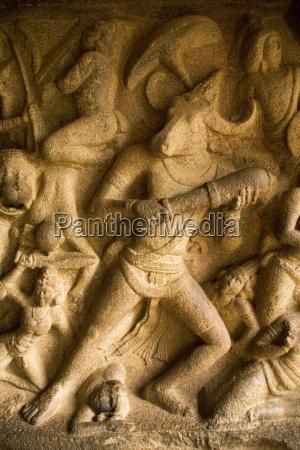 detail from the mahishasuramardini cave one