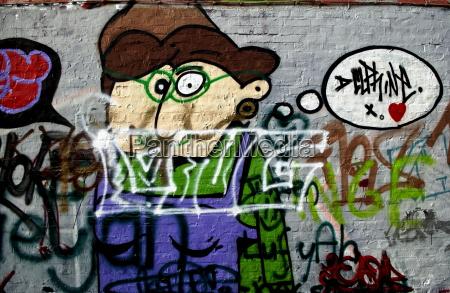 graffiti in werregaren straat gent belgien