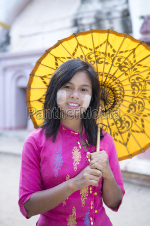 a local girl with a traditional