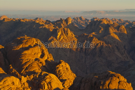 view over the sinai desert from