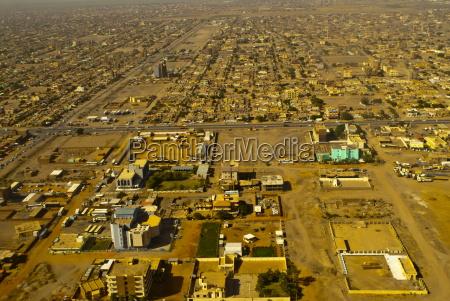 aerial view of khartoum sudan africa