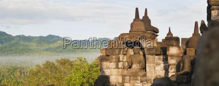 buddha panorama borobudur temple unesco world