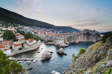 dubrovnik old town and the city