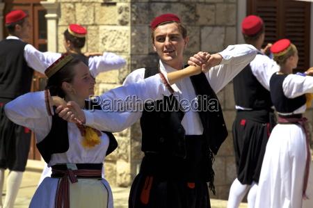 konavle, folk, dance, cilipi, kroatien, europa - 20820771