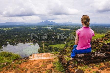 sigiriya rock tourist enjoying the view