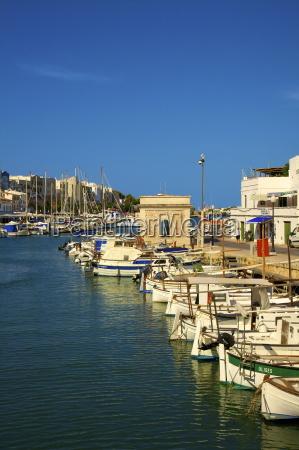 harbour ciutadella menorca balearic islands spain