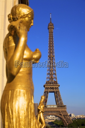turm kunst statue europa golden paris