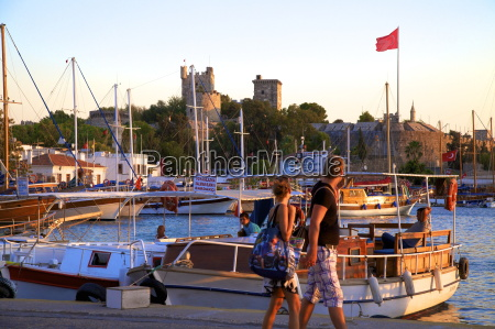 bodrum harbour and the castle of