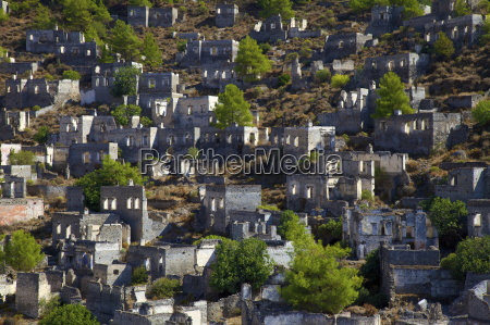 ghost town of kayakoy anatolia turkey