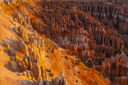 view of the bryce canyon at