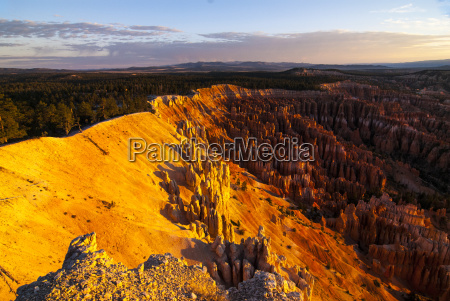 view over the pinnacles in the