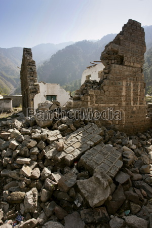 buildings demolished in earthquake area of