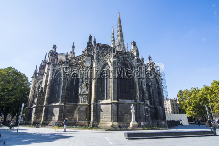 the cathedral of bordeaux aquitaine france