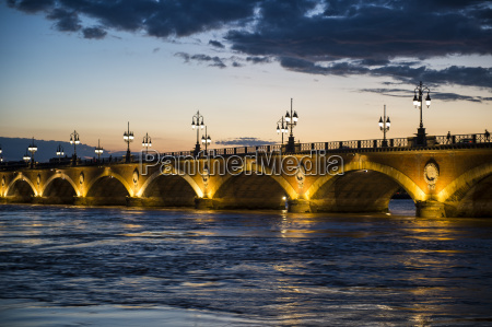 historic bridge pont de pierre over