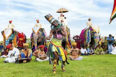 dancer at the jaipur elephant festival