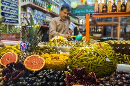 kurdish food in the bazaar of