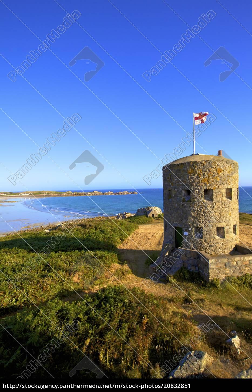 martello, tower, no, 5, l'ancresse, bay, guernsey, channel, islands, großbritannien, europa - 20832851