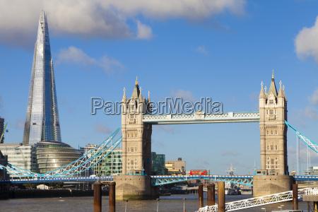 the shard and tower bridge at