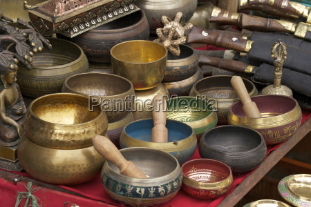 singing bowls on sale at swayambhunath