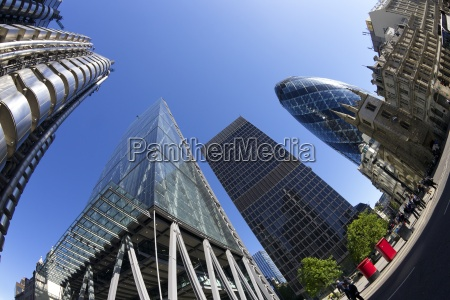 city of london financial district with
