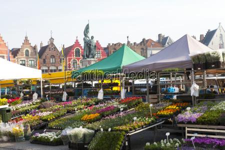 flower market in the historic market