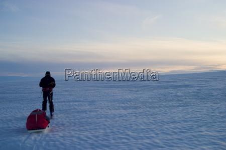 fahrt reisen horizont winter groenland person