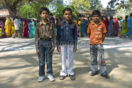indian boys in western clothes at