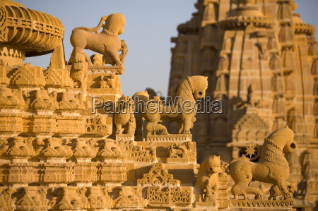 jain temple roof detail jaisalmer western