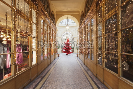 christmas tree in galerie colbert paris