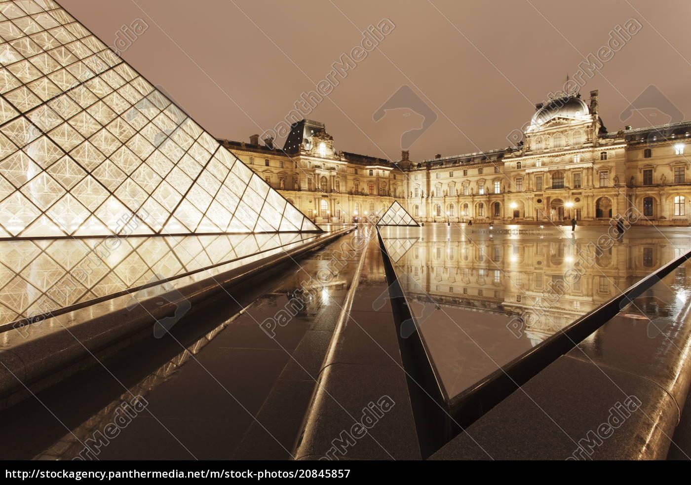 louvre, und, pyramide, paris, ile, de, france, frankreich, europa - 20845857