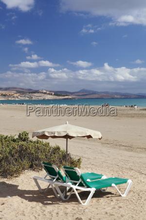 beach chair at the beach of