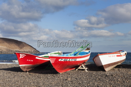 fishing boats pozo negro fuerteventura canary