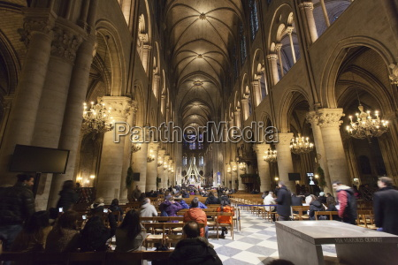 inside of notre dame cathedral paris