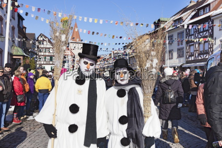 couple in snowman costumes swabian alemannic