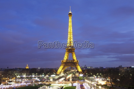 eiffelturm, und, weihnachtsmarkt, paris, ile, de, france, frankreich, europa - 20849053