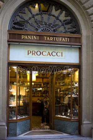 window display of high class procacci