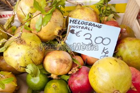fresh pomegranate fruit melograne on sale