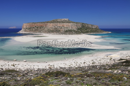 balos bay gramvousa peninsula crete greek