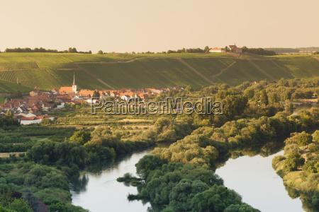 wine village of escherndorf and vogelsburg