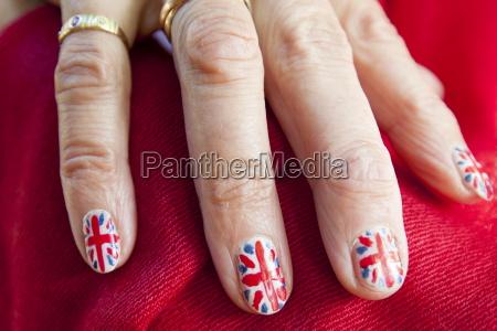blau hand haende ring finger makro