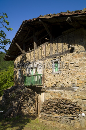 traditional basque architecture in the biskaia