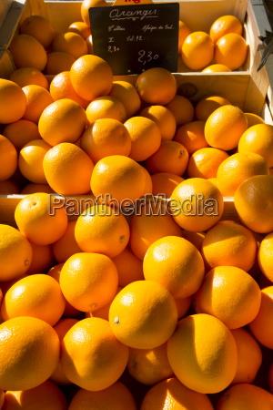 oranges on sale at food market