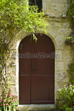 traditional french doorway in quaint town