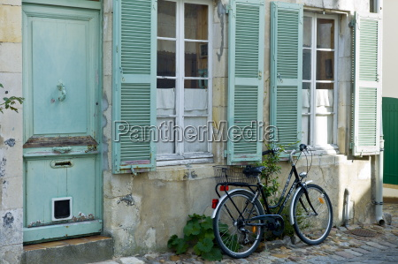 cobbled stones traditional street scene at