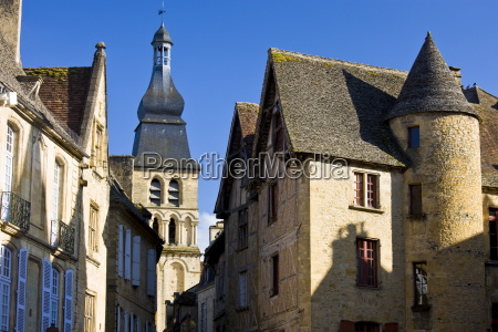 typical french architecture in popular picturesque