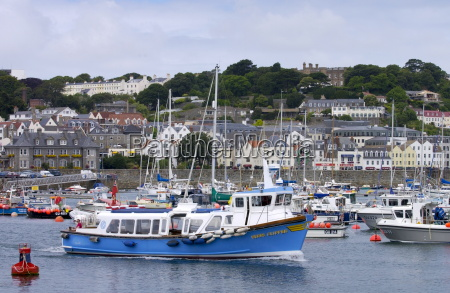 boats in harbour at st peters