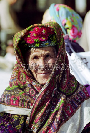 local woman wearing traditional clothing in