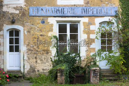 traditional old french gendarmerie police station