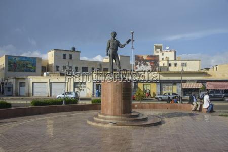 pushkin statue in asmara capital of